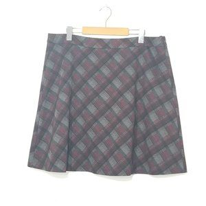 Mario Serrani | Tartan Plaid Mini A-Line Skirt